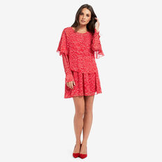 Drop Waist Frill Dress  BLURRED SPOT  hi-res