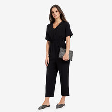 Cinched Waist Jumpsuit  BLACK  hi-res