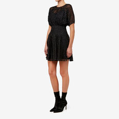Lurex Mini Dress  BLACK  hi-res