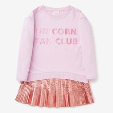 Pleat Sweater Dress  LILAC MIST  hi-res