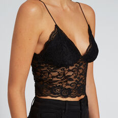 Lace Bustier  BLACK  hi-res