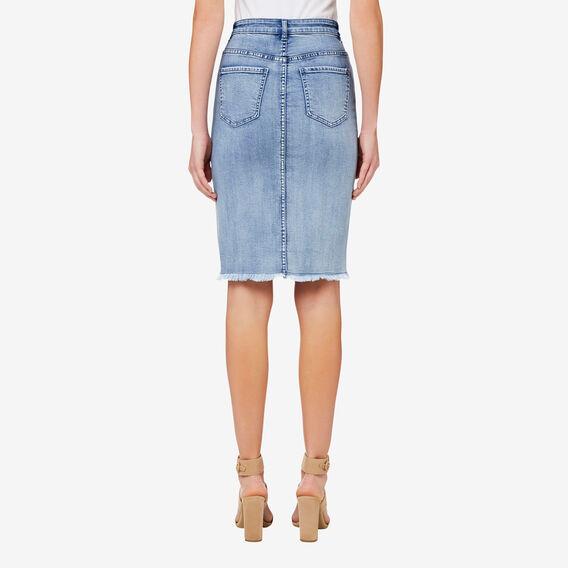 Denim Pencil Skirt  BLEACH BACK DENIM  hi-res