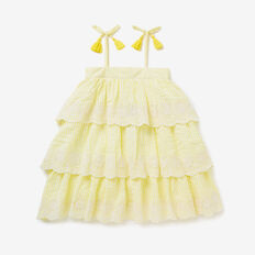 Seersucker Tiered Dress  LEMONADE  hi-res