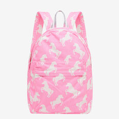 Stripe Unicorn Backpack  POODLE PINK  hi-res