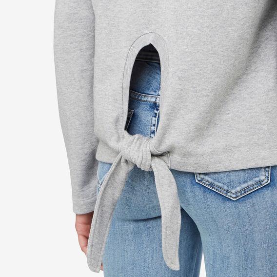 Tie Back Sweater  MID GREY MARLE  hi-res