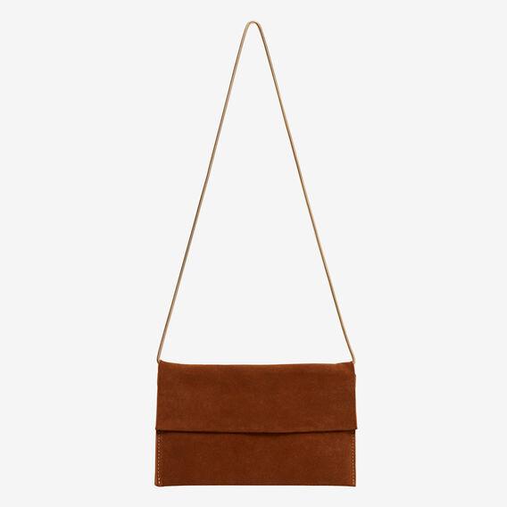 Joni Leather Clutch  TAN  hi-res