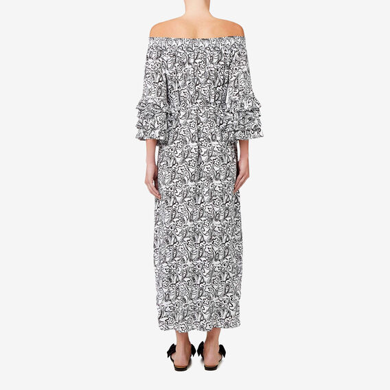 Off Shoulder Maxi Dress  PAISLEY  hi-res