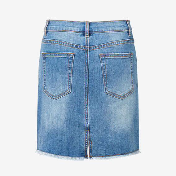 Denim Midi Skirt  CLASSIC WASH  hi-res