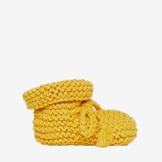 Knit Booties  MUSTARD  hi-res