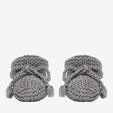 Knit Booties  SLATE MARLE  hi-res