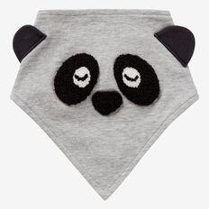 Panda Bandana Bib  FOG GREY MARLE  hi-res