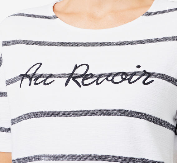 Revoir Textured Top  MULTI STRIPE  hi-res