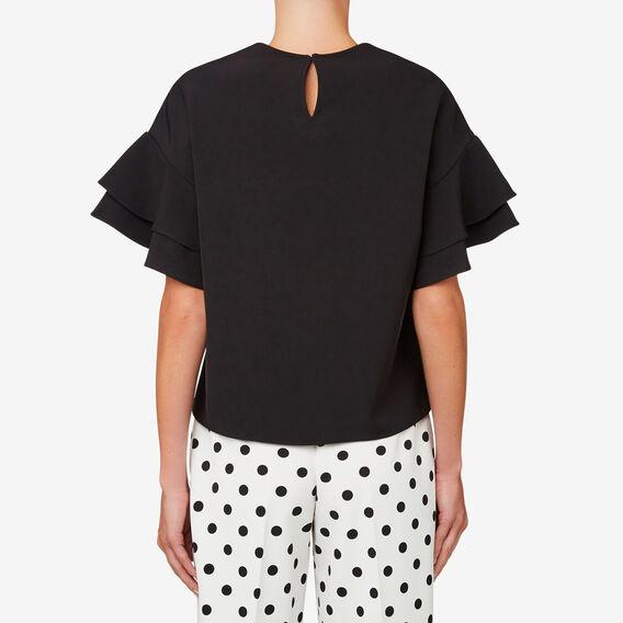 Frill Sleeve Top  BLACK  hi-res