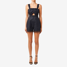 Lace Detail Romper  DEEP NAVY  hi-res