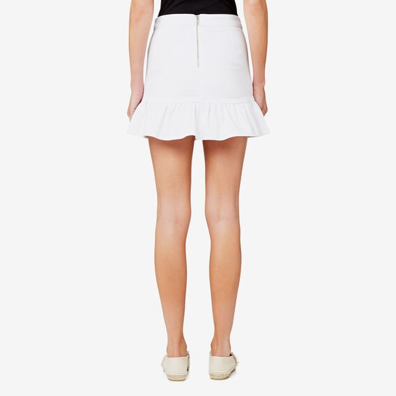 Frill Hem Skirt  BRIGHT WHITE  hi-res