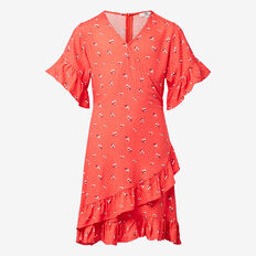 Wrap Dress  BLOOD ORANGE  hi-res