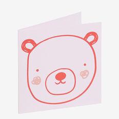 Pink Bear Card  MULTI  hi-res