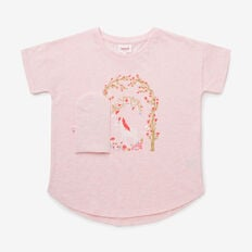 Secret Garden Tee  ICE PINK MARLE  hi-res