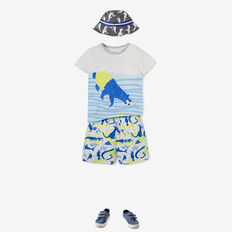 Swimming Bear Tee  VINTAGE WHITE  hi-res