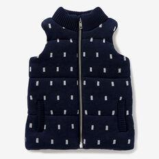 Geo Knit Puffa Vest  MIDNIGHT BLUE  hi-res