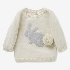 Pom Pom Bunny Knit Crew  SNOW MARLE  hi-res