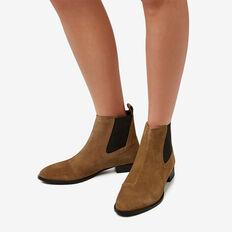 Jane Suede Gusset Boot  TAN  hi-res