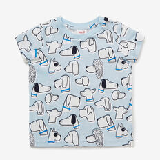 Puppy Yardage Tee  PACIFIC BLUE  hi-res