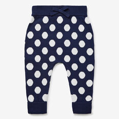 Jacquard Spot Knit Pant  NAVY  hi-res