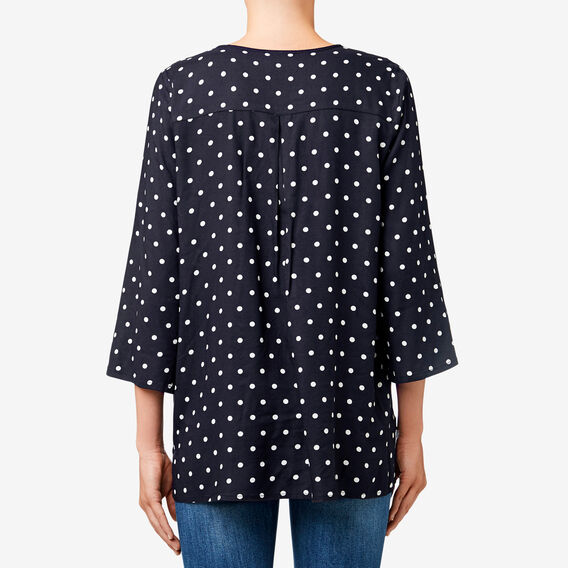 Frill Wrap Spot Top  DEEP NAVY SPOT  hi-res