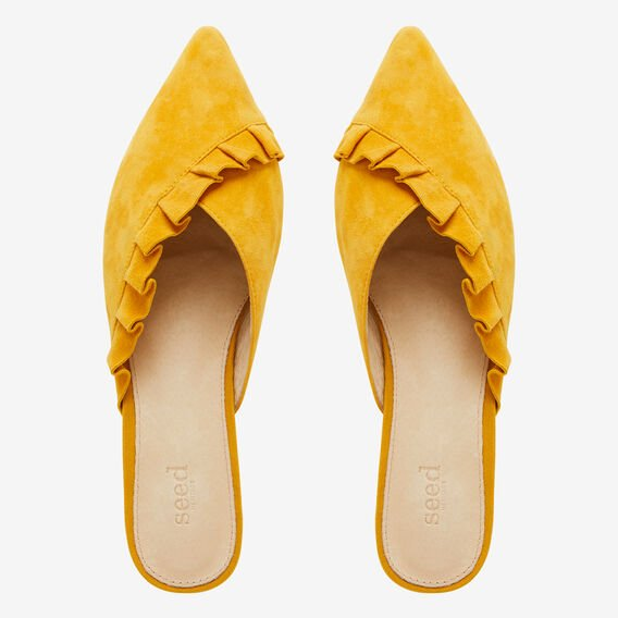 Daisy Frill Flat  HONEY YELLOW  hi-res