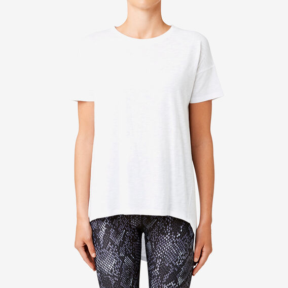 Asymmetric Tee  SNOW WHITE  hi-res