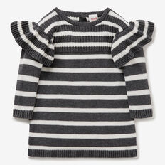 Stripe Knit Dress  CANVAS/SHADOW MARLE  hi-res