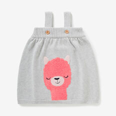 Llama Knit Pinafore  CLOUD  hi-res