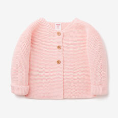 Chunky Knit Cardigan  SOFTEST PINK  hi-res