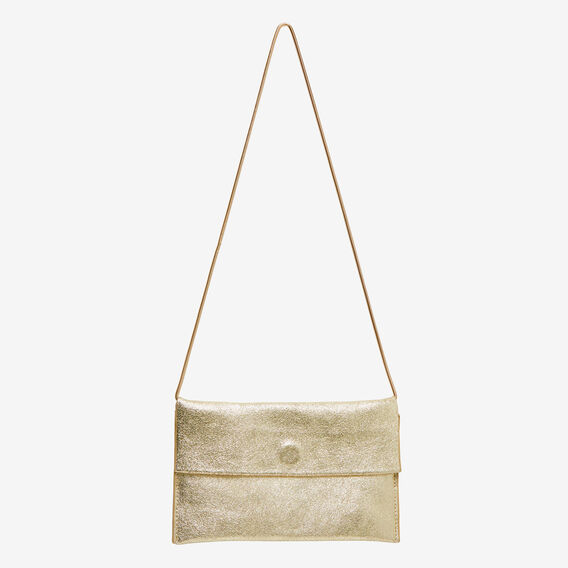 Joni Leather Clutch  GOLD  hi-res