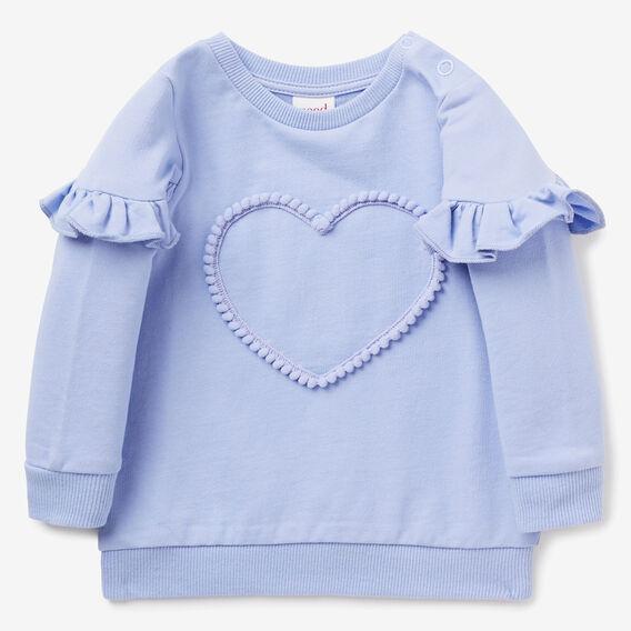 Pom Pom Heart Windcheater  BLUEBELL  hi-res
