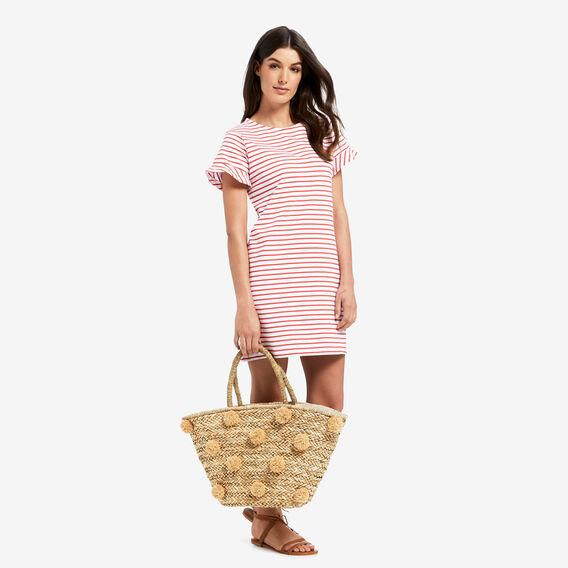 Easy Stripe Dress  DUSTY RED STRIPE  hi-res