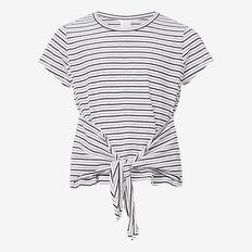 Stripe Knot Tee  SNOW WHITE/ BLACK  hi-res