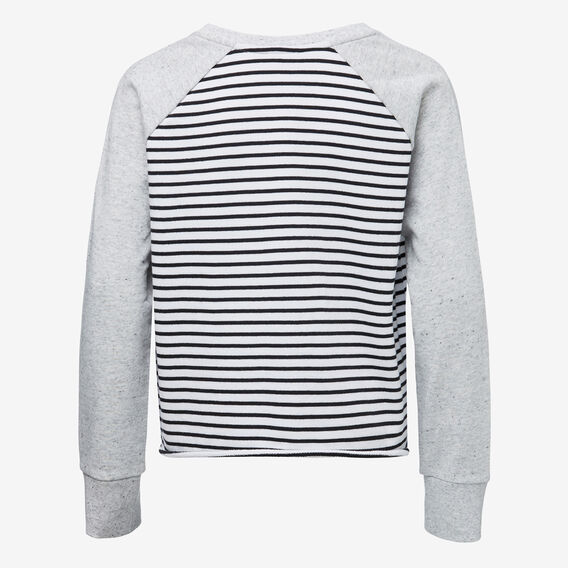 Stripe Raglan Sweat  BLACK STRIPE  hi-res