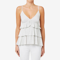 Frilly Cami  LIGHT GREY MARLE  hi-res