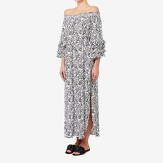 Off Shoulder Maxi Dress  PAISLEY  hi-res