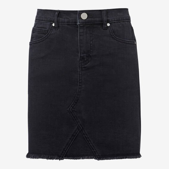 Denim Midi Skirt  CHARCOAL  hi-res