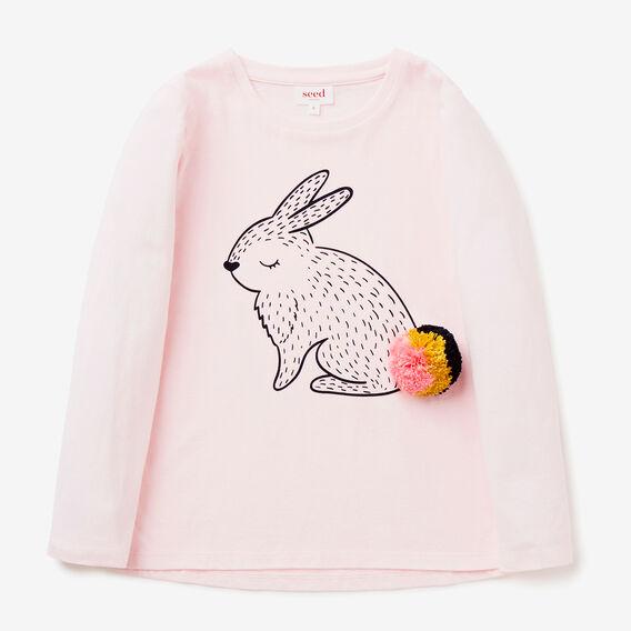 Bunny Pom Pom Tee  ICE PINK  hi-res