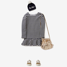 Stripe Knit Dress  NAVY/CANVAS  hi-res