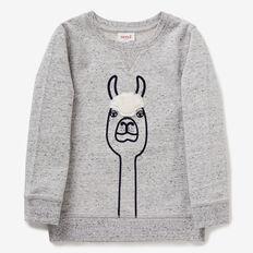 Llama Sweater  GREY SPECKLE MARLE  hi-res