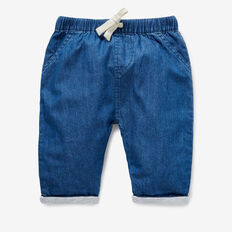 Chambray Jersey Pants  MID CHAMBRAY  hi-res