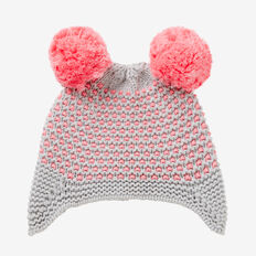 Pom Pom Ear Beanie  BUBBLEGUM  hi-res