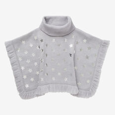 Foil Star Poncho  CLOUD MARLE  hi-res