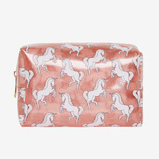 Clear Unicorn Zip Case  PINK  hi-res