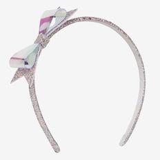 Iridescent Bow Headband  MULTI  hi-res